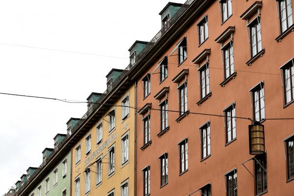 En vacker fasadrenovering I Stockholm